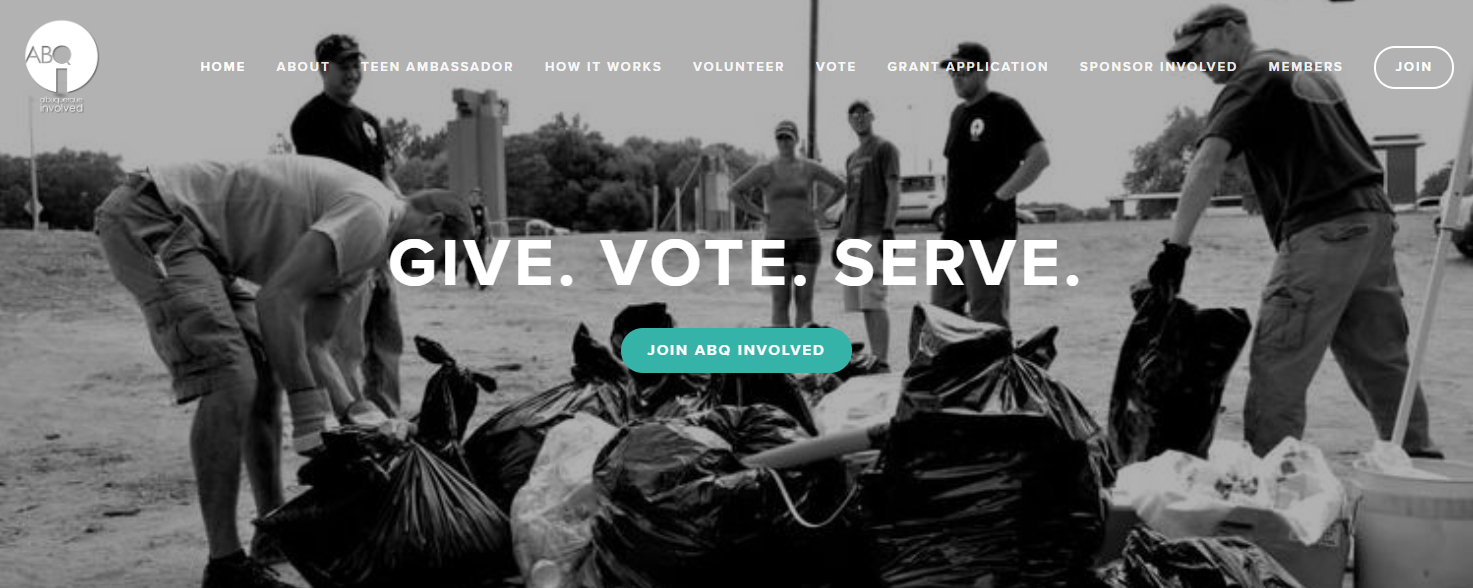 ABQ Involved: Give. Vote. Serve.