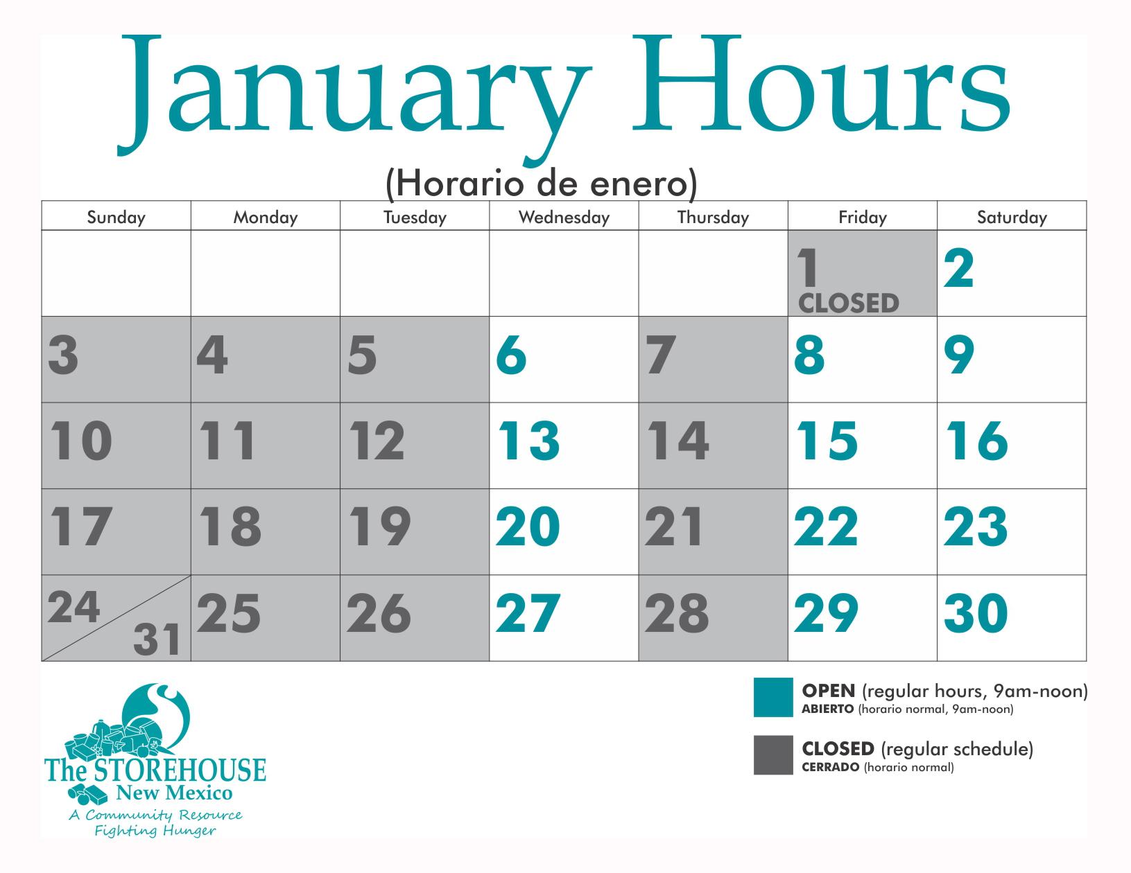 January-Hours-Storehouse