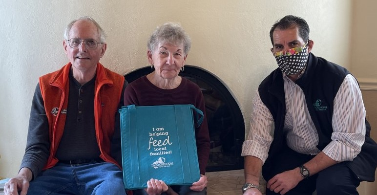 The McCulloughs were gifted with a FACE the Hunger insulated grocery tote for their participation in the campaign and their ongoing gifts to the Storehouse